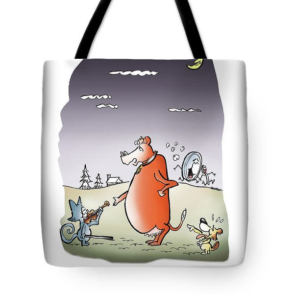 Moon Jump Tote Bag