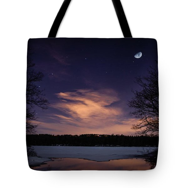 Moon Lake Tote Bag