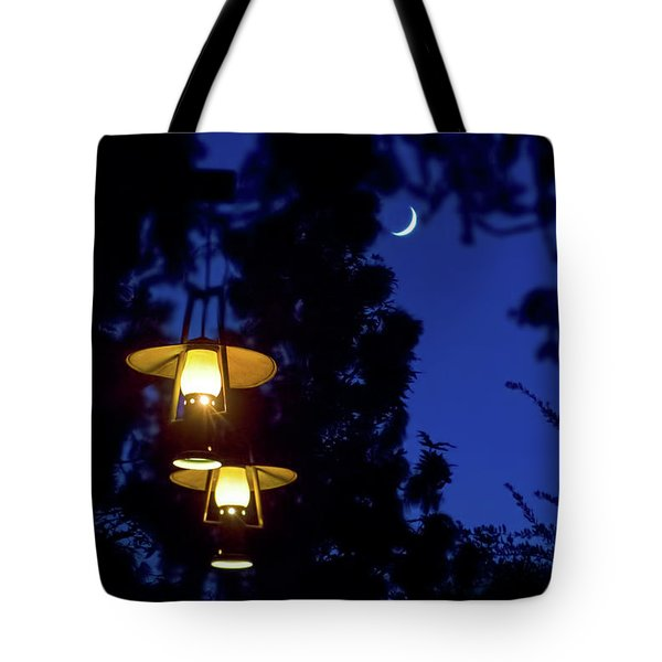 Tote Bag featuring the photograph Moon Lanterns by Mark Andrew Thomas