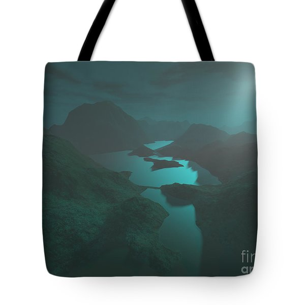 Moon Light At The Mountains Tote Bag by Gaspar Avila
