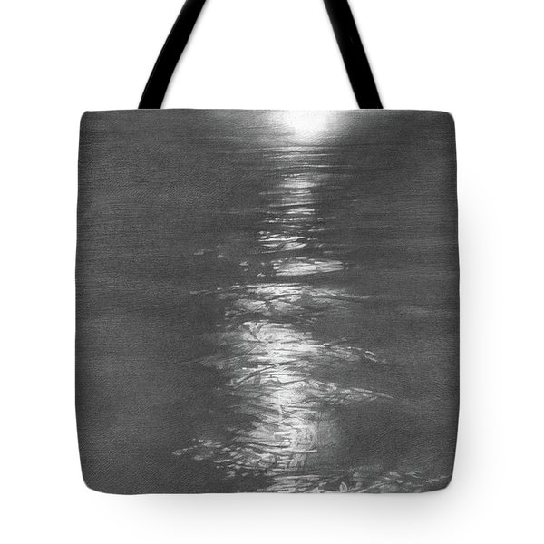 Moon Light In The Sea Tote Bag