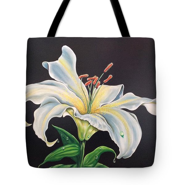 Moon Light Lilly Tote Bag