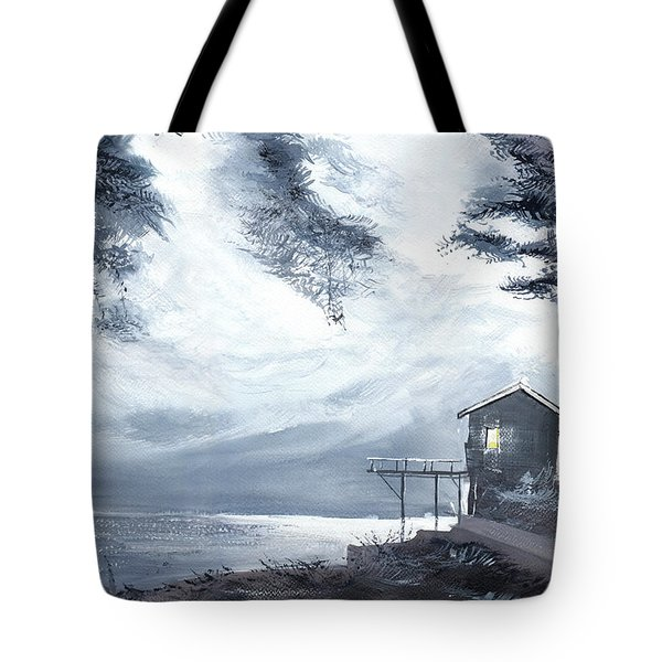 Tote Bag featuring the painting Moon Light New by Anil Nene