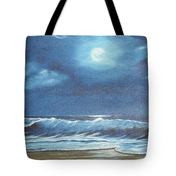 Moon Light Night In Paradise Tote Bag