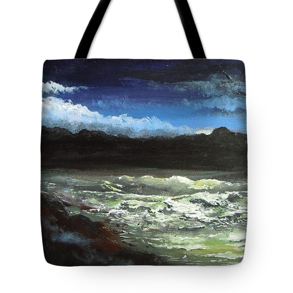 Moon Lit Sea Tote Bag