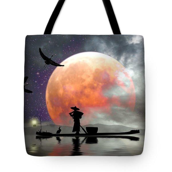 Moon Mist Tote Bag