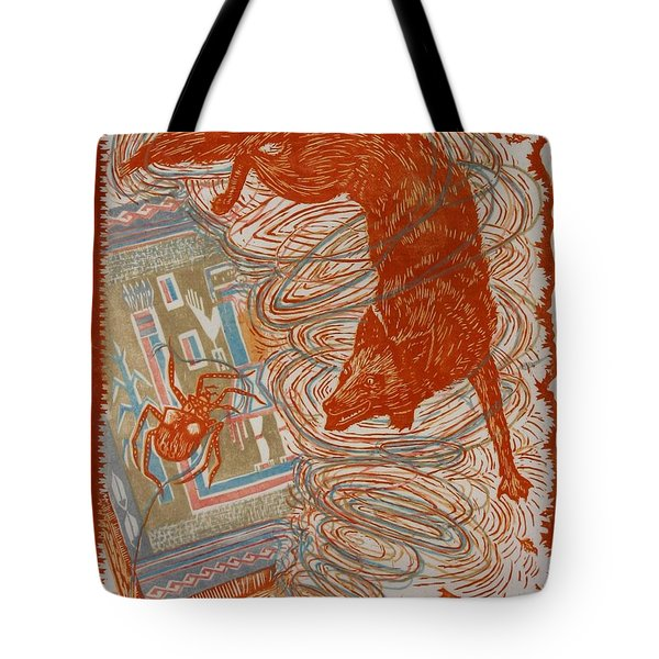 Tote Bag featuring the drawing Moon Of Changing Leaves by Dawn Senior-Trask