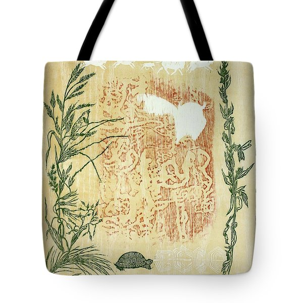Tote Bag featuring the drawing Moon Of Fatness by Dawn Senior-Trask