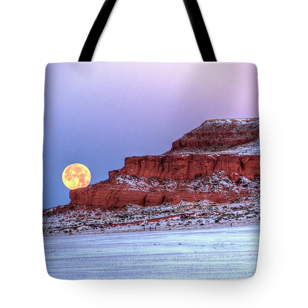 Moon Of The Popping Trees Tote Bag