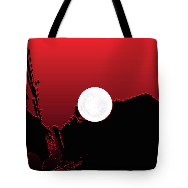 Moon On Abstract World Tote Bag by Bruce Iorio