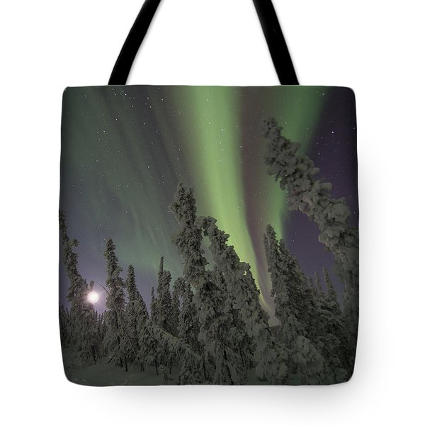 Moon On The Hill Tote Bag