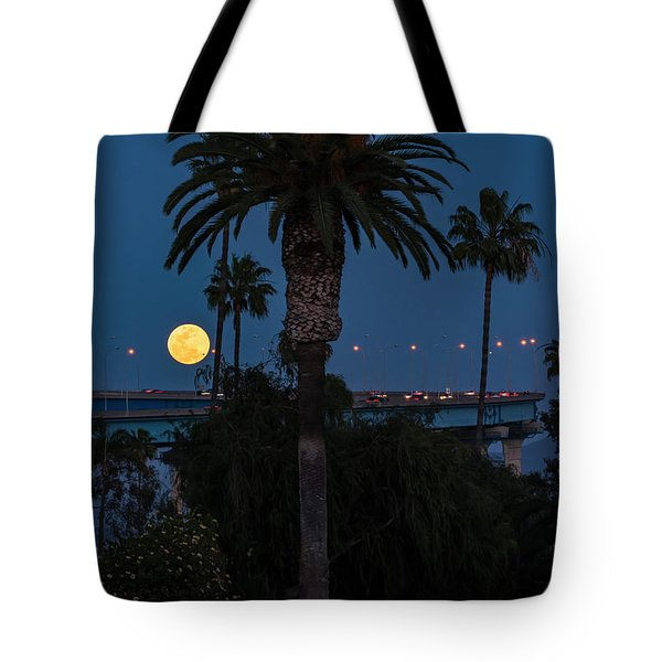 Tote Bag featuring the photograph Moon On The Rise by Dan McGeorge