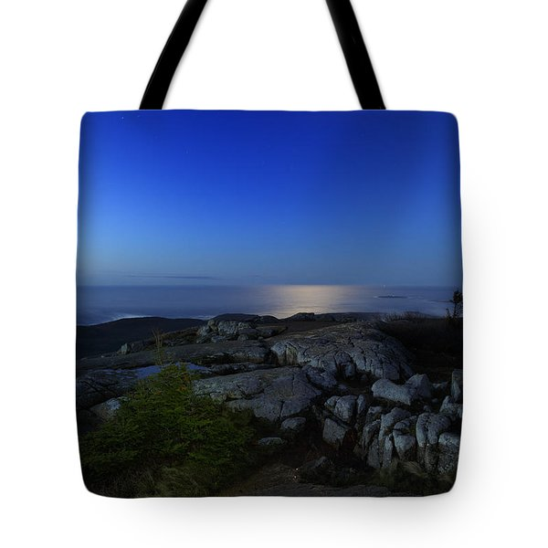 Moon Over Cadillac Tote Bag by Rick Berk