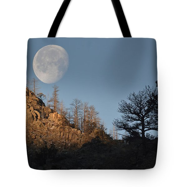 Tote Bag featuring the photograph Moon Over Colorado by Al  Swasey