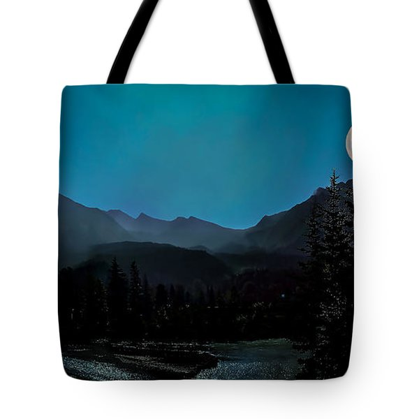 Moon Over Field Bc Tote Bag
