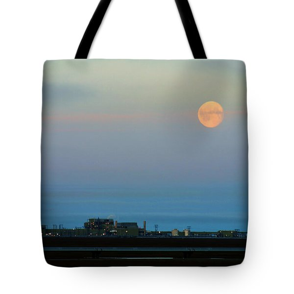 Moon Over Flow Station 1 Tote Bag