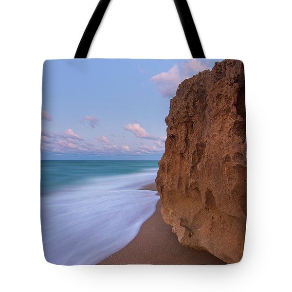 Tote Bag featuring the photograph Moon Over Hutchinson Island Beach by Justin Kelefas