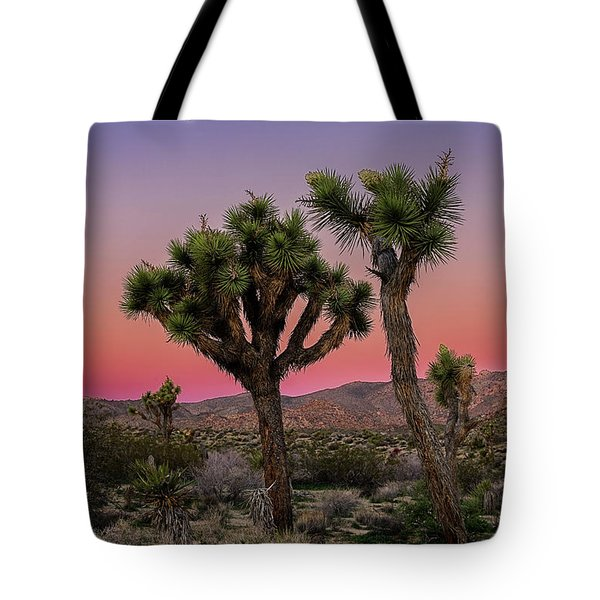 Tote Bag featuring the photograph Moon Over Joshua Tree by John Hight