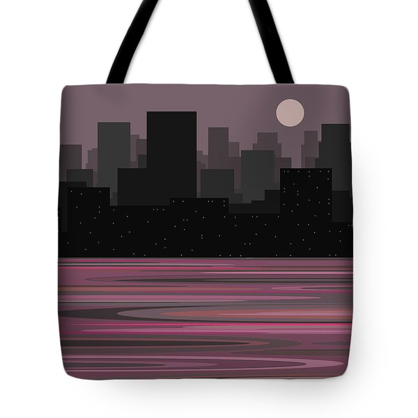 Moon Over Manhattan - A Different View Tote Bag