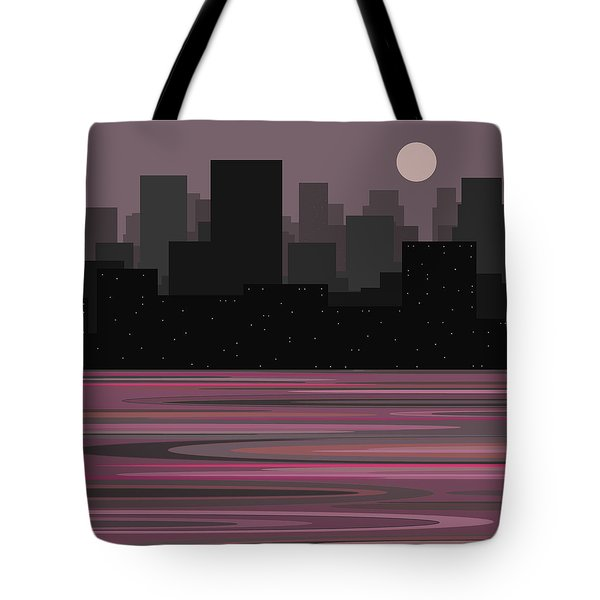 Moon Over Manhattan - A Different View Tote Bag by Val Arie