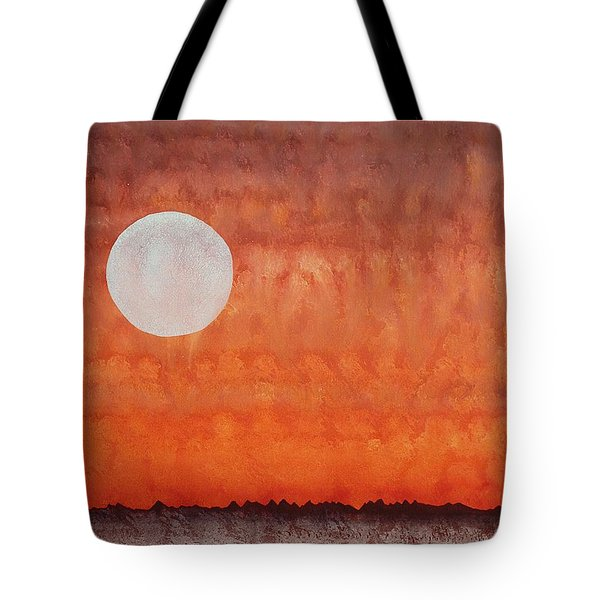 Moon Over Mojave Tote Bag by Sol Luckman