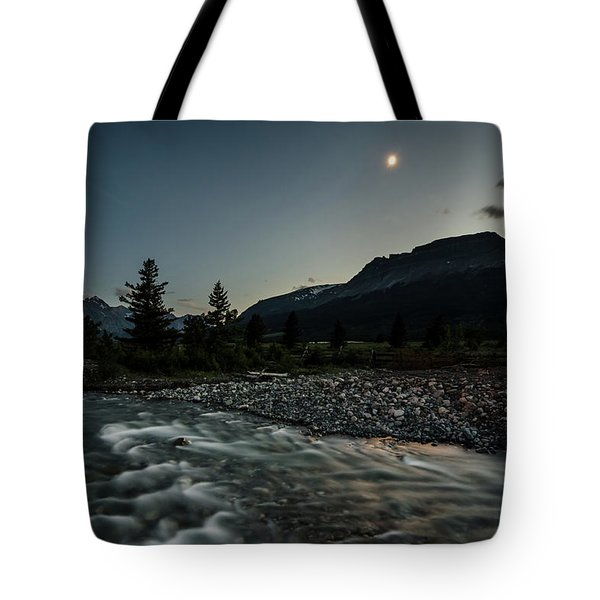 Moon Over Montana Tote Bag