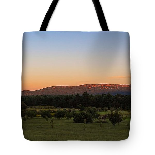 Moon Over Mount Tom Tote Bag