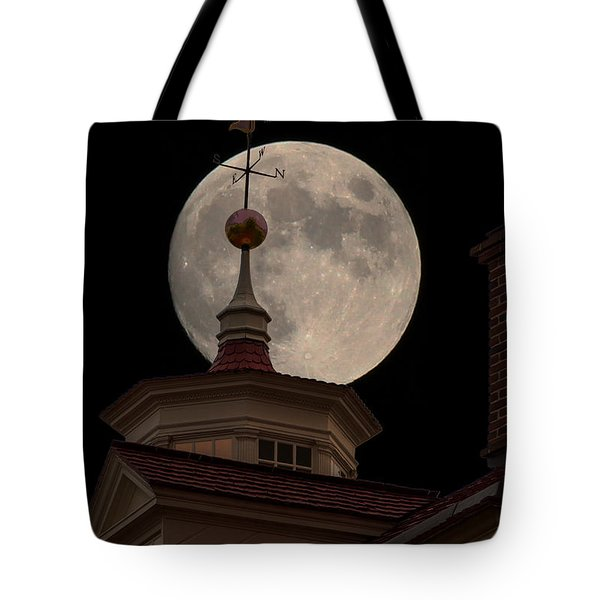 Moon Over Mount Vernon Tote Bag