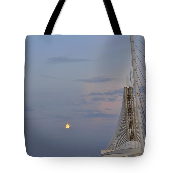 Moon Over Museum Tote Bag