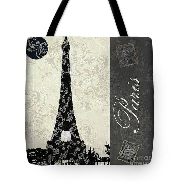 Moon Over Paris Postcard Tote Bag