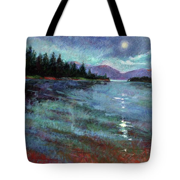 Moon Over Pend Orielle Tote Bag