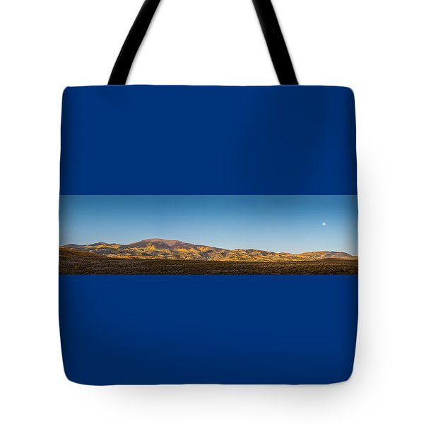Moon Over Pintada Mountain At Sunrise In The San Juan Mountains, Tote Bag