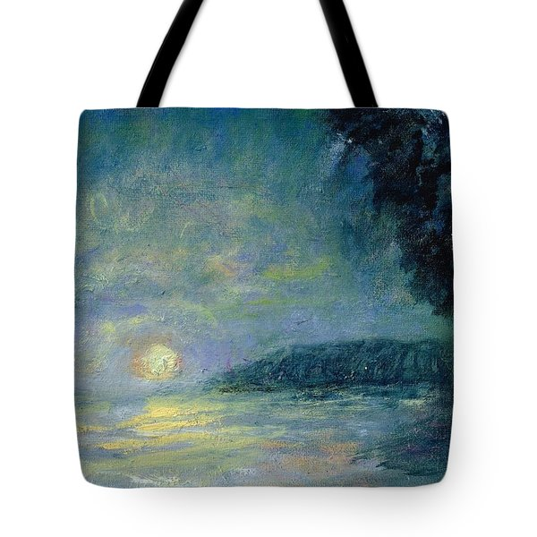 Moon Over Pt Dume Tote Bag