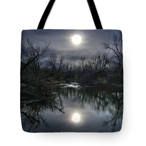 Moon Over Sand Creek Tote Bag