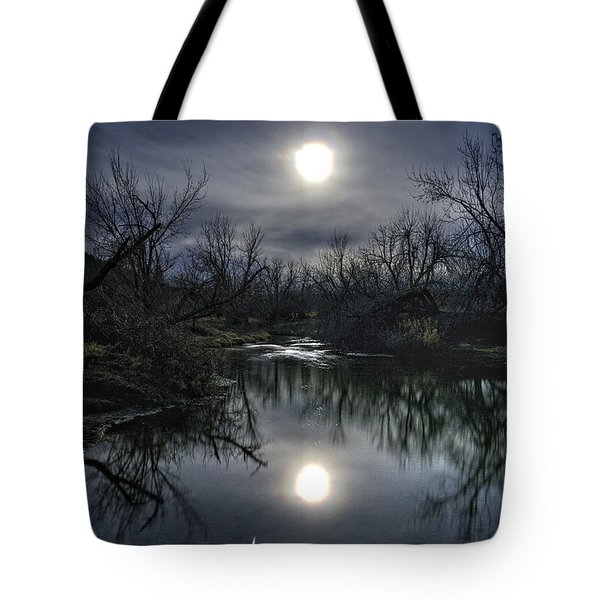 Moon Over Sand Creek Tote Bag