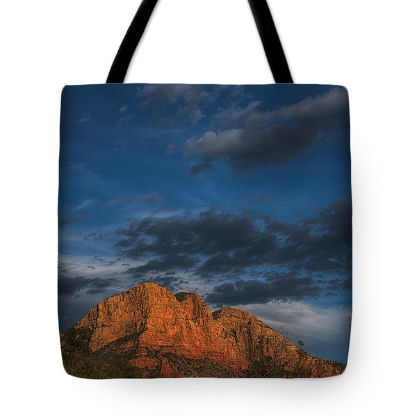 Moon Over Sedona Tote Bag