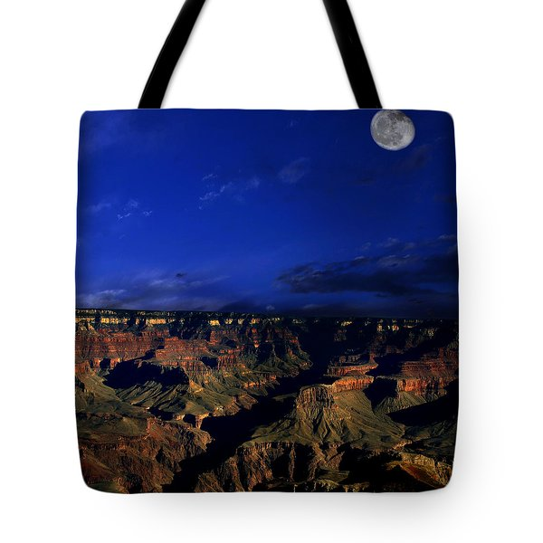 Moon Over The Canyon Tote Bag