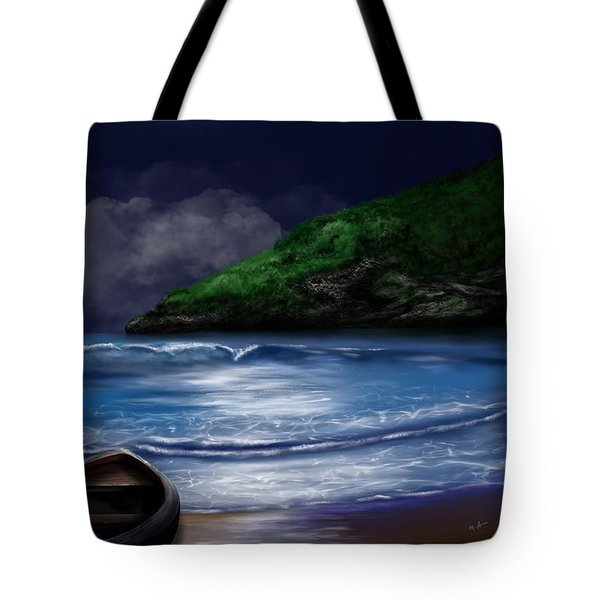 Moon Over The Cove Tote Bag