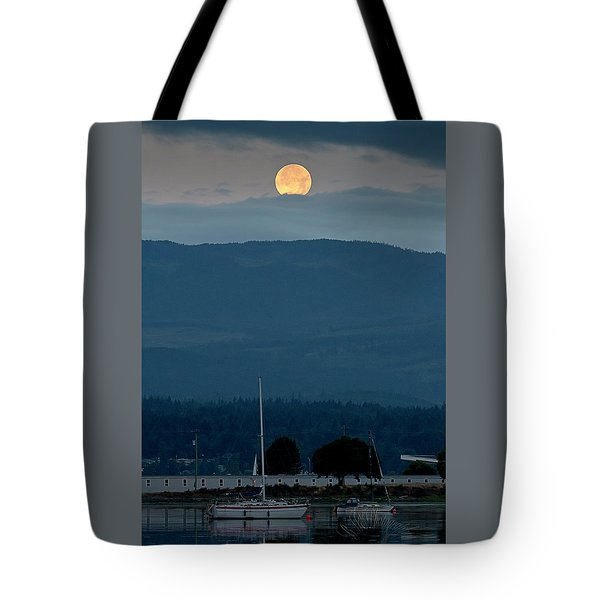 Moon Over The Spit Tote Bag