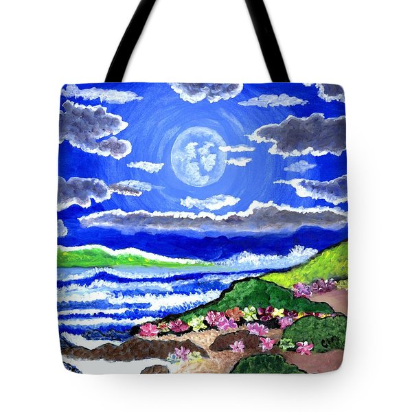 Moon Over The Tropics  Tote Bag