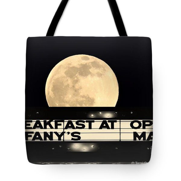 Moon Over Tiffany's Tote Bag