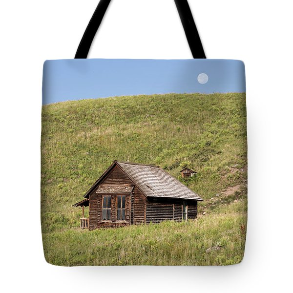 Moon Over Tiny House Tote Bag