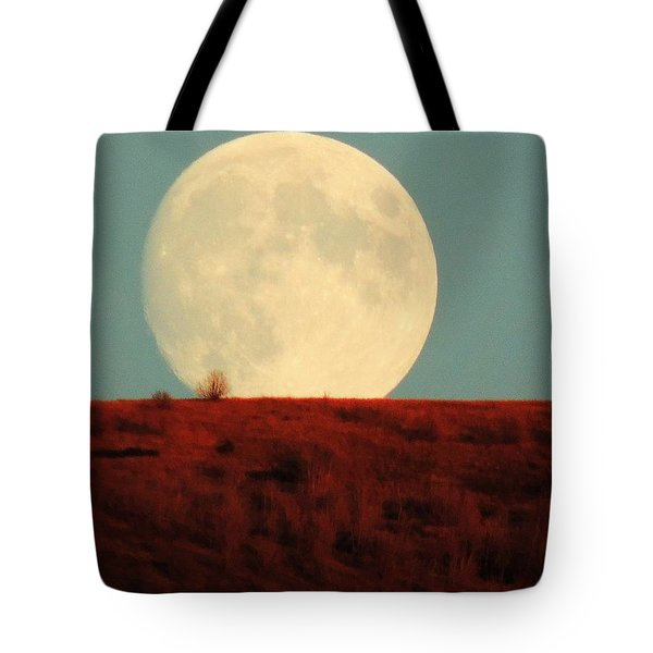 Moon Over Utah Tote Bag by Charlotte Schafer
