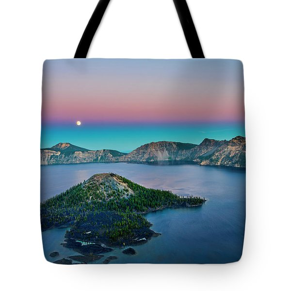 Moon Over Wizard Island Tote Bag