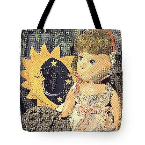 Moon Pearl Tote Bag by Tobeimean Peter