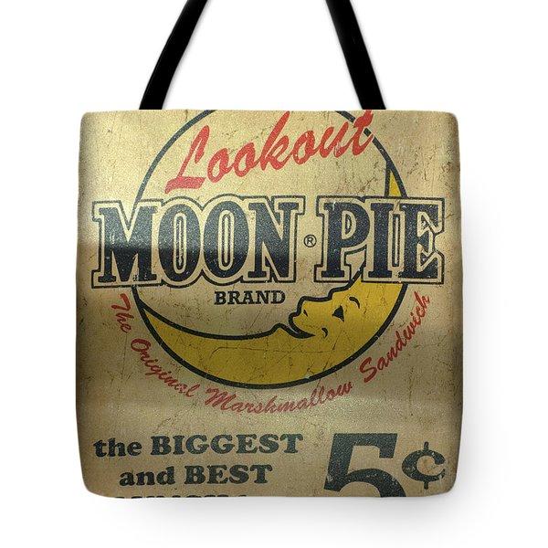 Moon Pie Antique Sign Tote Bag