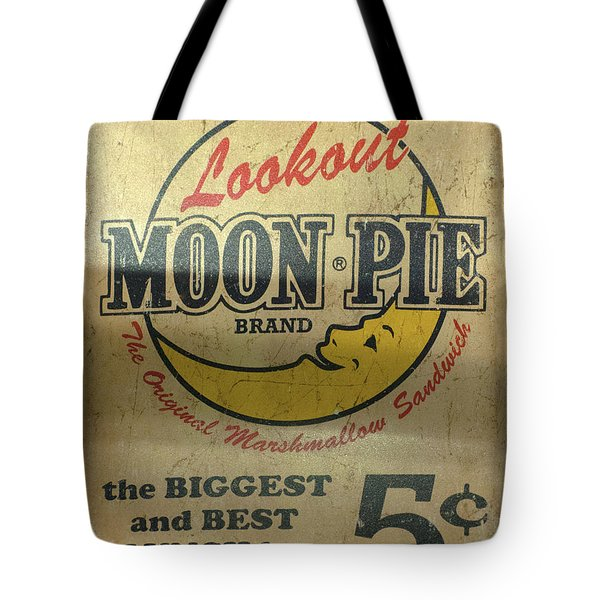 Moon Pie Antique Sign Tote Bag