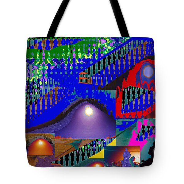 Moon Reflections On Mountains Abstract Graphic Paint Download For Personal N Commercial Projects Fun Tote Bag