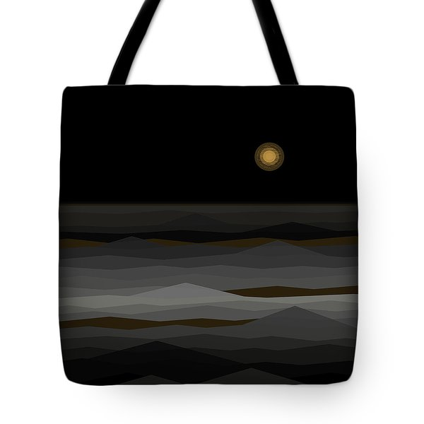 Moon Rise Abstract II Tote Bag