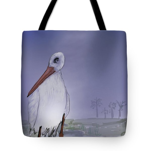 Moon Rise Becomes A Stork Tote Bag